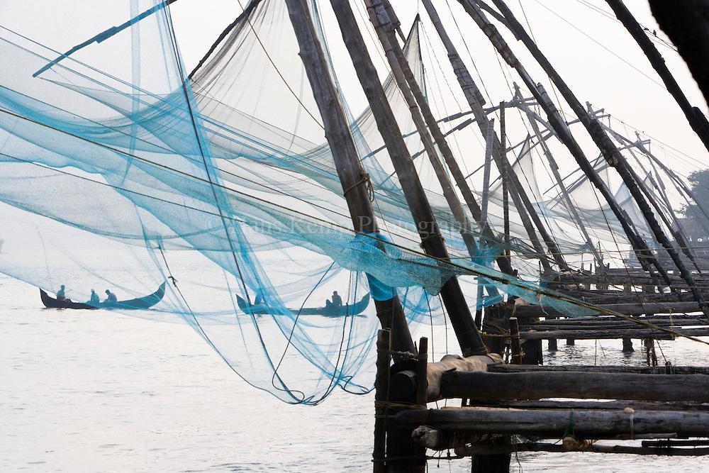 Chinese fishing nets in Fort Cochin, Kerala, India