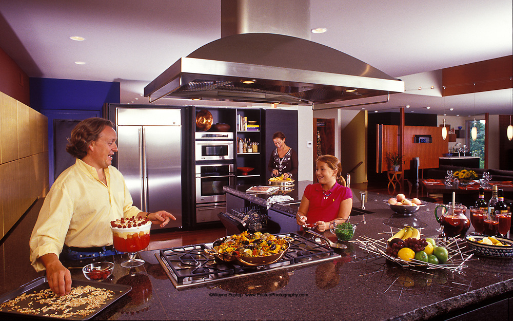 Dearies in their kitchen, Louisville, KY. GE-Monogram Advertising Campaign
