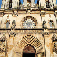 Alcoba&ccedil;a Monastery Church Entrance in Alcoba&ccedil;a, Portugal<br />