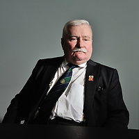 Lech Walesa, Nobel Prize winner and former President of Poland. Photographed in Geneva