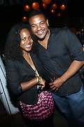 l to r: Sherry Bitting and Sean Johnson at Uptown Magazine's 5th Anniversary Party held at The Maritime Hotel on September 22, 2009 in New York City
