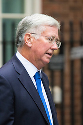 Downing Street, London, September 15th 2015.  Defence Secretary Michael Fallon arrives at 10 Downing Street to attend the weekly cabinet meeting