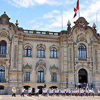 Changing of the Guard at Government Palace in Lima, Peru<br />