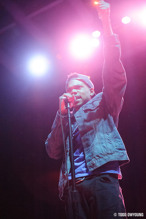 Chance The Rapper opening for Childish Gambino at the Pageant in St. Louis on June 7, 2012.