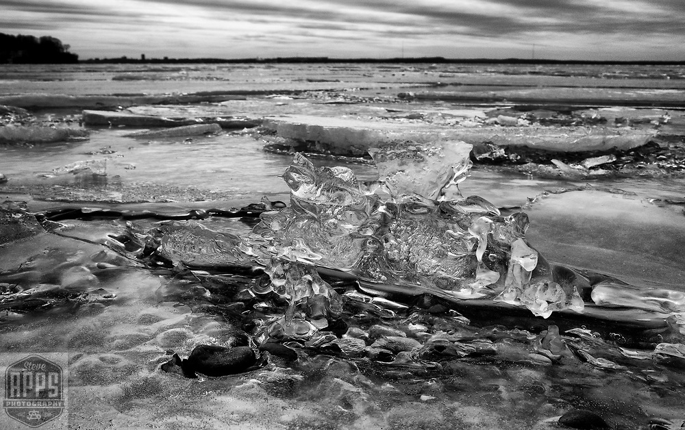 Ice melt on Lake Mendota in Madison, Wisconsin Saturday, March 11, 2017.