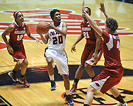 Ole Miss' Amber Singletary (20) vs. Arkansas in a women's college basketball game in Oxford, Miss. on Thursday, January 31, 2013. Arkansas won 77-66.
