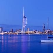 Portsmouth panoramic city skyline