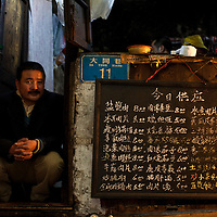 Man at a restaurant in Chongqing