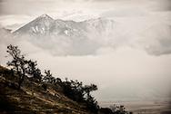 Winter storm, Absaroka Mountains, Livingston Peak, south of Livingston, Montana