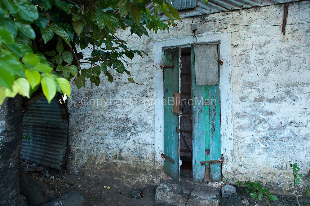 Mauritius. Old house and door.