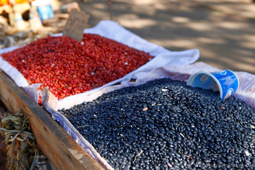 Central America, Cuba, Santa Clara. A variety of beans for sale at a Cuban street market.