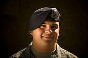 Staff Sgt. Fernando Olivas, 437th Security Forces, poses for a portrait at Charleston Charleston Air Force Base, S.C., on Oct. 30, 2008.
