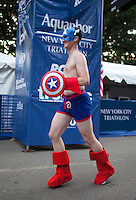 NYC Triathlon Underwear Run in Central Park. .. Photo by Robert Caplin