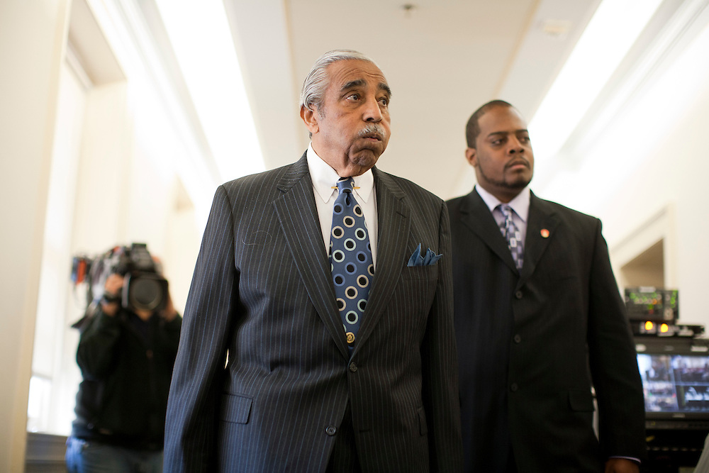 Rep. Charles Rangel (D-NY) arrives at a hearing of the House ethics committee for ethics violations on Capitol Hill on Thursday, November 18, 2010 in Washington, DC.