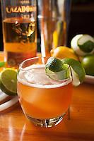 Tutto Vino's Chris Mannis makes the tequila drink El Diablo.(Jodi Miller)