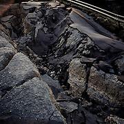A road near the Fukushima Daiichi Power Plant in Okuma, Fukushima. April 2011