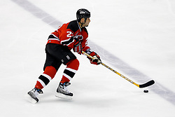 April 26, 2007; East Rutherford, NJ, USA; New Jersey Devils center Scott Gomez (23) skates up ice during the third period at Continental Airlines Arena in East Rutherford, NJ.
