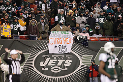 Jan 3, 2010; East Rutherford, NJ, USA; New York Jets show remembrance of fallen Bengal Chris Henry during the first half at Giants Stadium.