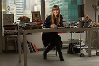 Feb. 1, 2013 - New York - Amy Astley, the editor in chief of Teen Vogue in her New York office. ..Photo by Robert Caplin.©Robert Caplin.