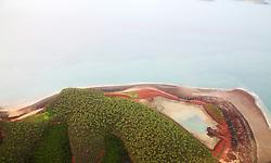 Aerial view of Kingfisher Island on the Kimberley coast.