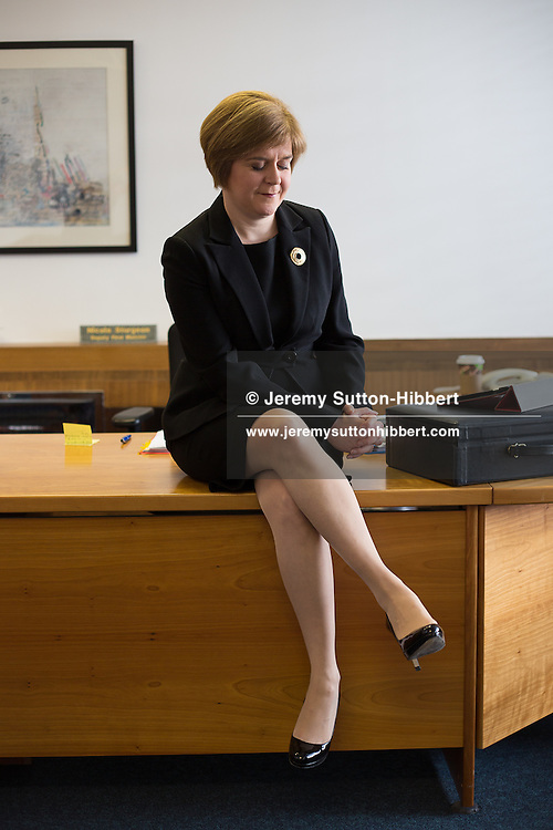 Nicola Sturgeon, SNP MSP, Deputy First Minister of Scotland, in her office, in St. Andrew's House, Edinburgh, Scotland, on Thursday 14th February 2013.