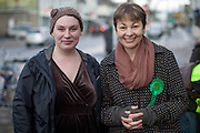 Emily Blyth, parliamentary candidate for the Green Party with Caroline Lucas, Member of Parliament for Brighton.