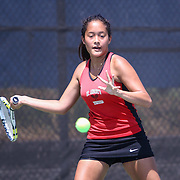 St. Andrew's Jolie Chin in action during a DIAA Tennis State final match Tuesday, May. 26, 2015 at UD Field House in Newark, DEL