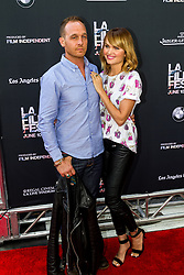 LOS ANGELES, CA - JUNE 10: Sunny Mabrey(R) and Ethan Embry (L) attend the opening night premiere of 'Grandma' during the 2015 Los Angeles Film Festival at Regal Cinemas L.A. Live on June 10, 2015. Byline, credit, TV usage, web usage or linkback must read SILVEXPHOTO.COM. Failure to byline correctly will incur double the agreed fee. Tel: +1 714 504 6870.