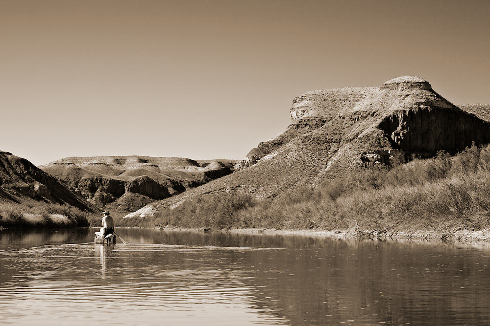 On the Rio Grande between Lajitas and Santa Elena Canyon.