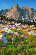Sunrise on Cirque of the Towers, Popo Agie Wilderness, Wind River Range Wyoming