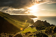 Valley of the Rocks, near Lynton, at Sunset