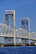 Marine Parkway, Gil Hodges Memorial Bridge, over Rockaway Inlet, Twin Towers in Distance, Brooklyn, Queens, New York City, New York, USA