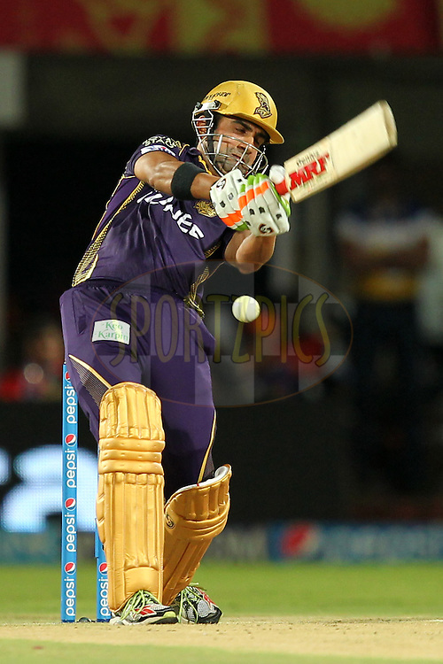 Gautam Gambhir captain of Kolkata Kinght Riders during match 19 of the Pepsi IPL 2015 (Indian Premier League) between The Sunrisers Hyderabad and The Kolkayta Knight Riders held at the ACA-VDCA Stadium in Visakhapatnam India on the 22nd April 2015.Photo by:  Prashant Bhoot / SPORTZPICS / IPL