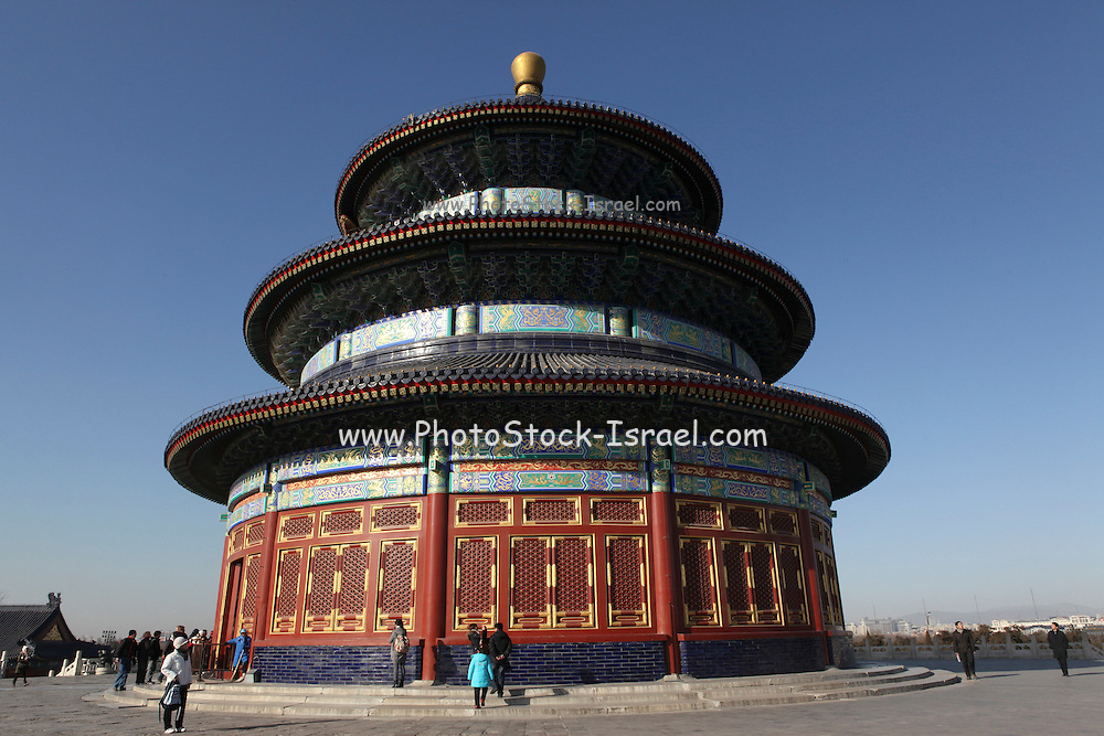 China, Beijing, The Forbidden City Temple of Heaven Hall of Prayer