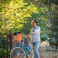 """I ride my bike to work...when I'm not running late...which is to say, not often enough.""  -Eden Umble on her way home on Cedar Street in Calistoga"