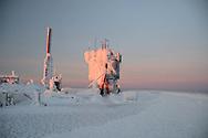Sunrise at the summit of Mount Washington.