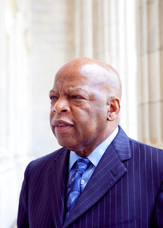 Rep. John Lewis (D-GA) poses for a portrait outside his office on Capitol Hill on Tuesday, Apr. 21, 2009 in Washington, DC.