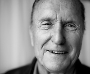 """US actor, Robert Duvall, poses during a photo session at the Hotel Maria Crsitina to promote """"Get Low"""" on the 57th San Sebastian Film Festival."""