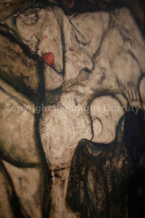Egon Schiele, Blinde Mutter, Blind Mother, 1914, Detail, Leopold Museum, Vienna, Austria // Egon Schiele, Blinde Mutter, Mere aveugle, 1914, Detail, Musee Leopold, Vienne, Autriche