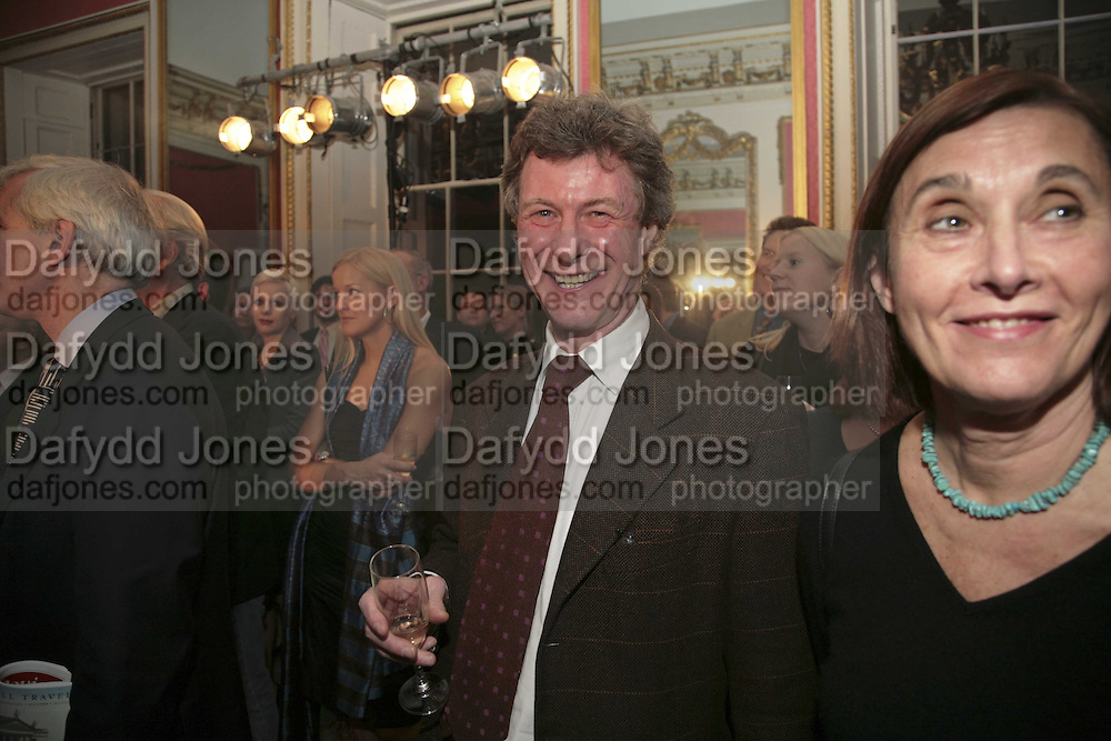 MICHAEL ALCOCK, Literary Review's Bad Sex In Fiction Prize.  In &amp; Out Club (The Naval &amp; Military Club), 4 St James's Square, London, SW1, 29 November 2006. <br />Ceremony honouring author who writes about sex in a 'redundant, perfunctory, unconvincing and embarrassing way'. ONE TIME USE ONLY - DO NOT ARCHIVE  &copy; Copyright Photograph by Dafydd Jones 248 CLAPHAM PARK RD. LONDON SW90PZ.  Tel 020 7733 0108 www.dafjones.com