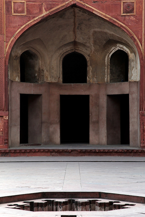 Asia, India, Agra. the Red Fort of Agra, a UNESCO World Heritage Site.