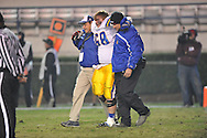 Oxford High's Colton Skidmore (68) is injured vs. Picayune in the MHSAA Class 5A championship game at Mississippi Veterans Memorial Stadium in Jackson, Miss. on Saturday, December 7, 2013. Picayune rallied to win 42-35.