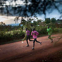 Kenyan runners by Chris Maluszynski