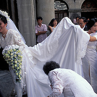 Philippines, Wedding at cathedral in Manila's Intramuros neighborhood