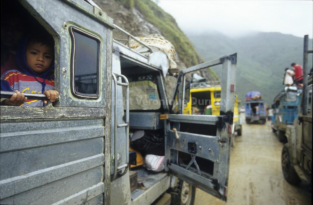 IN A JAM DUE TO A MUDSLIDE, CORDILLERA, NORTH LUZON, THE PHILIPPINES