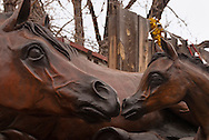 Santa Fe, New Mexico, Canyon Road, horse sculptures, art