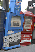 A Washington Post box on August 1, 2011, the day after an agreement was made to solve the debt ceiling crisis preventing a default of U.S. debt.