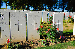 Y Ravine Cemetery...The Beaumont-Hamel Newfoundland Memorial is a memorial site dedicated to the commemoration of Dominion of Newfoundland forces members who were killed during World War...The preserved battlefield park encompasses the grounds over which the Newfoundland Regiment made their unsuccessful attack on 1 July 1916 during the Battle of the Somme. The Battle of the Somme was the regiment's first major engagement and during an assault that lasted approximately 30 minutes was all but wiped out. Purchased by the people of Newfoundland, the site is the largest battalion memorial on the Western Front and the largest area of the Somme battlefield that has been preserved. Along with preserved trench lines, there are a number of memorials and cemeteries contained within the site.