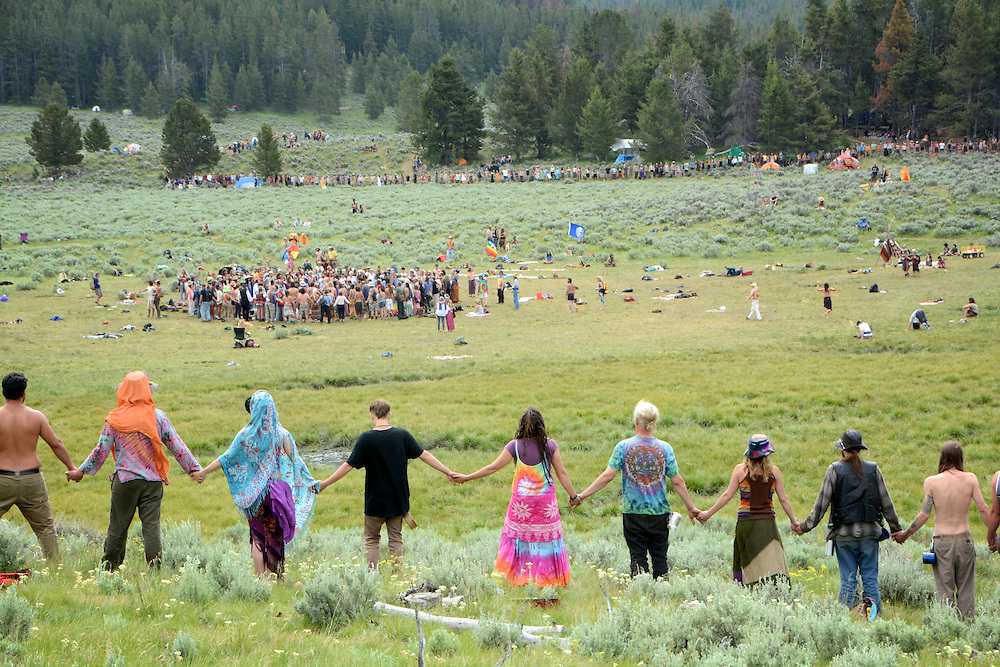 Rainbow Gatherings started back in 1972, acts of self-expression, inclusiveness, and the right to peacefully assemble. Rainbow Gathering 2013 was held in Montana, outside of Jackson.
