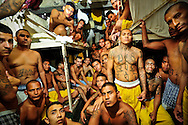 Overcrowded cells plague Izalco men's prison for incarcerated members of the Mara 18 gang, in El Salvador.